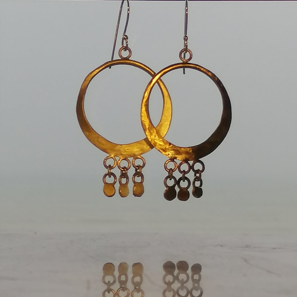 Image of Brass disc hoops
