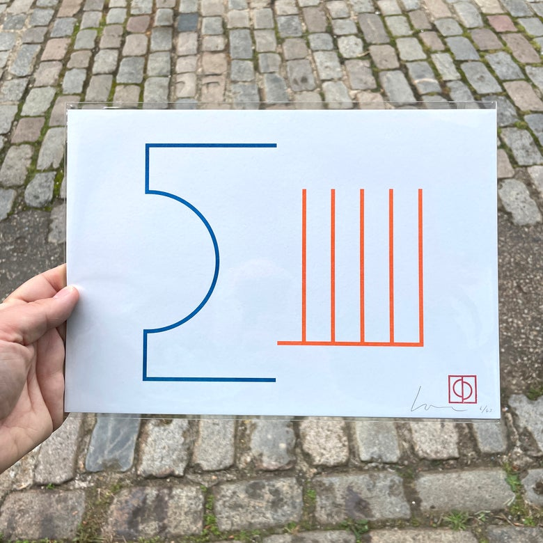 Image of 50/50 (1) – A4 Riso Print