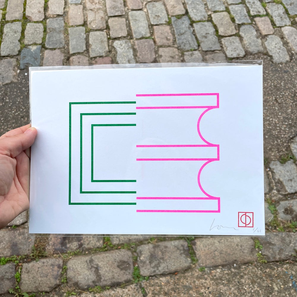Image of 50/50 (2) A4 Riso print