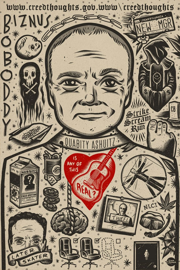 Image of Creed - Icon - Print (Red Heart Variant)