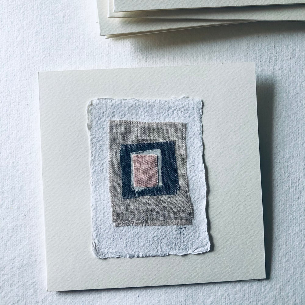 Image of Fabric Collage Greetings Card i