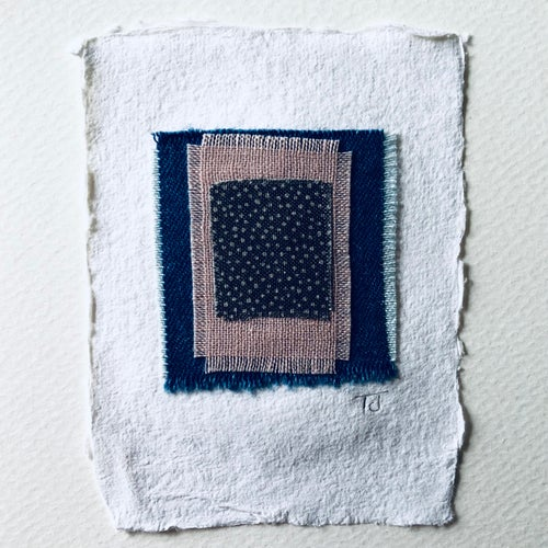 Image of Fabric Collage Greetings Card v