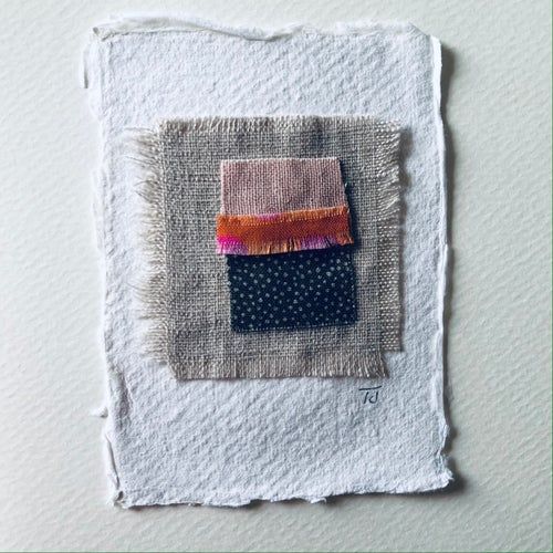Image of Fabric Collage Greetings Card vii
