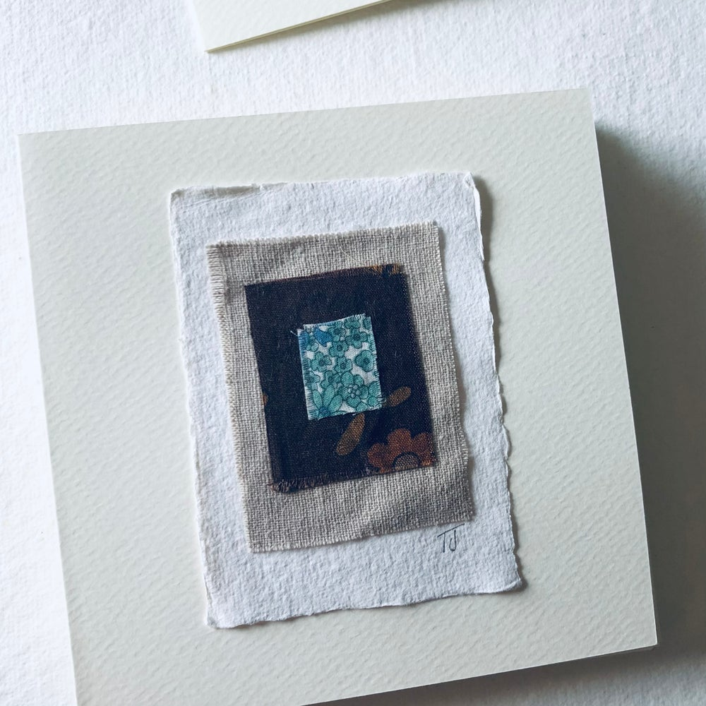 Image of Fabric Collage Greetings Card x