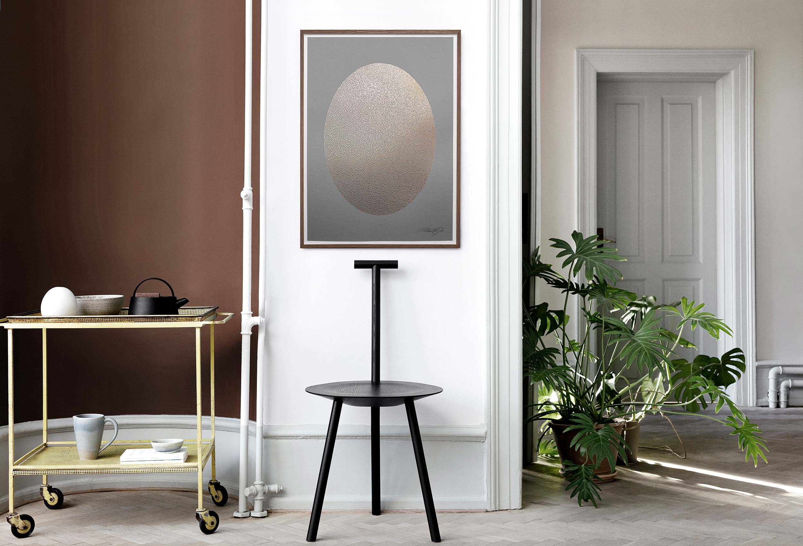 Image of Ellipse · Grey & Gold