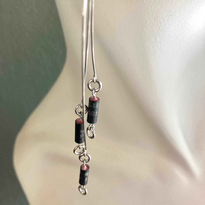 Image of P3 Earrings - Black/Red