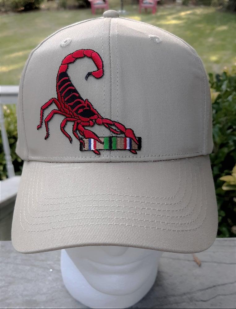 Image of Desert Storm Gulf Wars Veteran Red Scorpion Hat