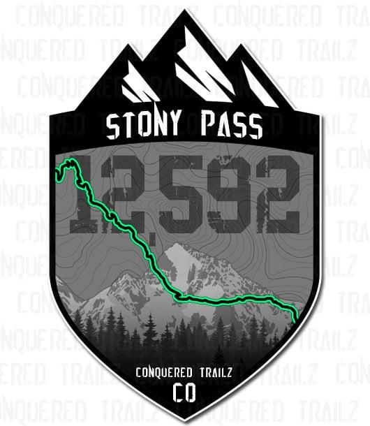 "Image of ""Stony Pass"" Trail Badge"