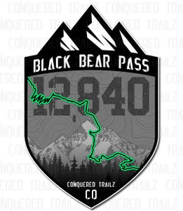 "Image of ""Black Bear Pass"" Trail Badge"