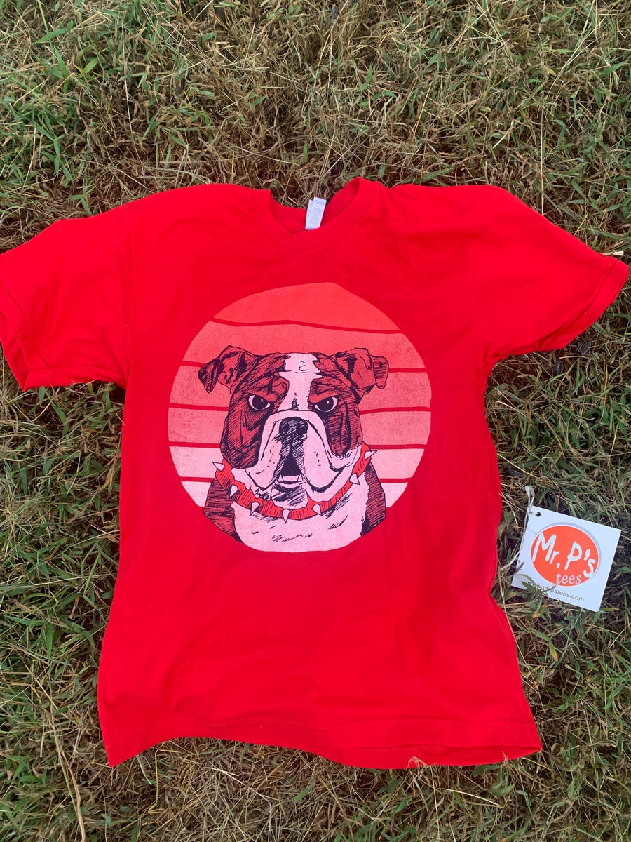 Image of Adult Retro Dawg Red on Red