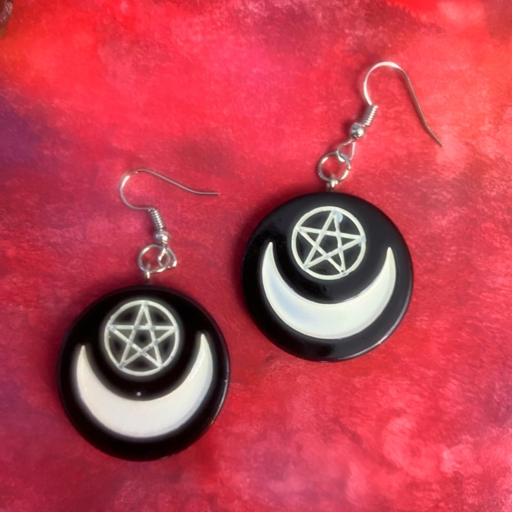 Image of WITCHY SYMBOL EARRINGS