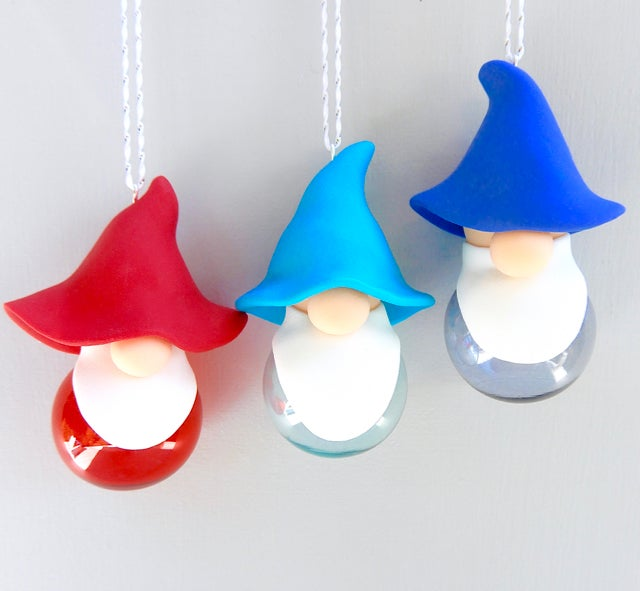 Image of New 2021 Gnomes on Clear Coloured Glass