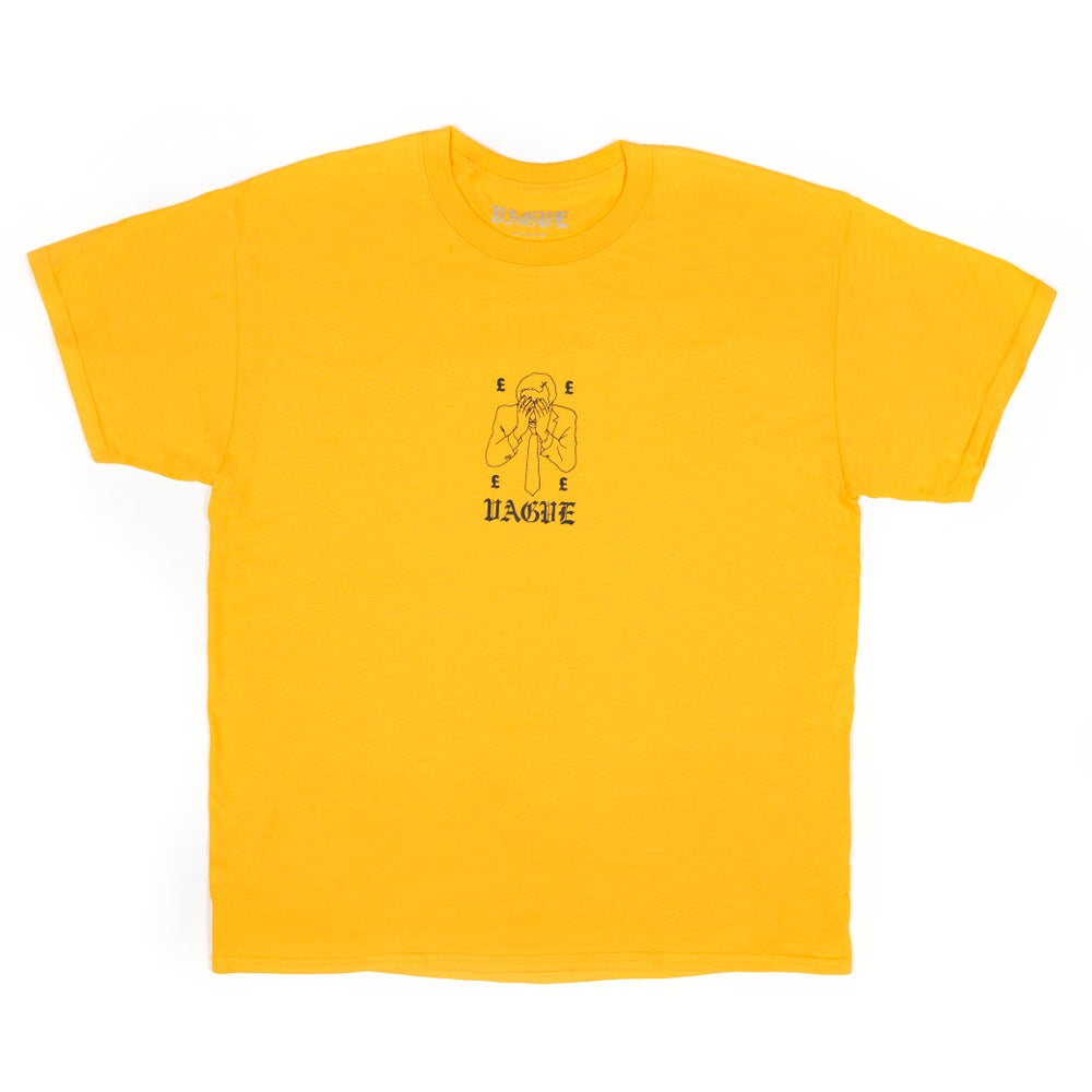 Image of Vague - Collapsed Economy T-Shirt - Yellow