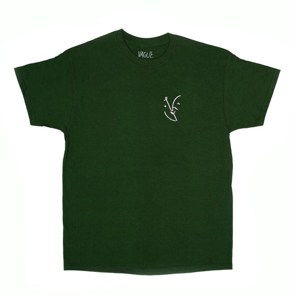 Image of Vague - Face T-shirt - Forest Green