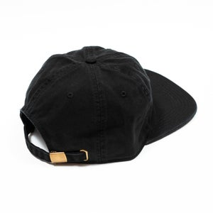 Image of Vague x Mike O'Shea - Embroidered Six Panel Hat - Black