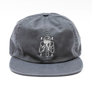 Image of Vague - Collapsed Economy - Embroidered Six Panel Cap - Grey