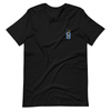 Walkie-Talkie   Blue Embroidered T-Shirt