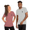 Walkie-Talkie   Red Embroidered T-Shirt