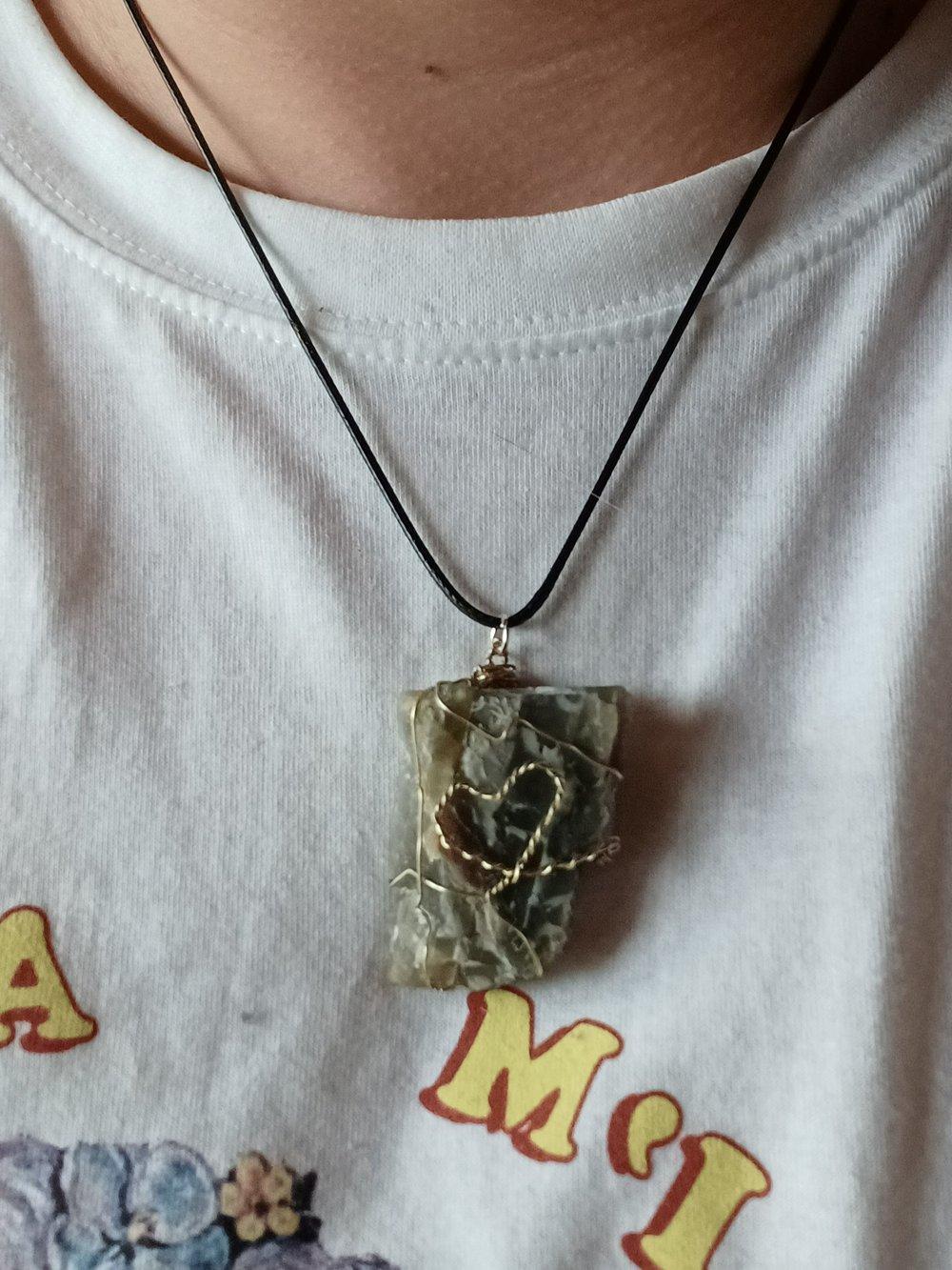 Image of Black Moonstone Heart Pendant