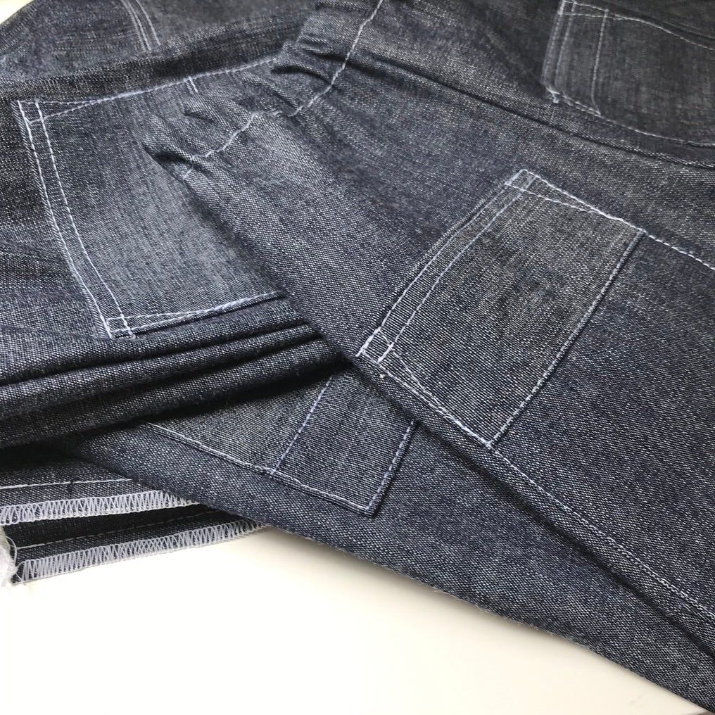 Image of Recycled Dark Denim Baggy Jeans