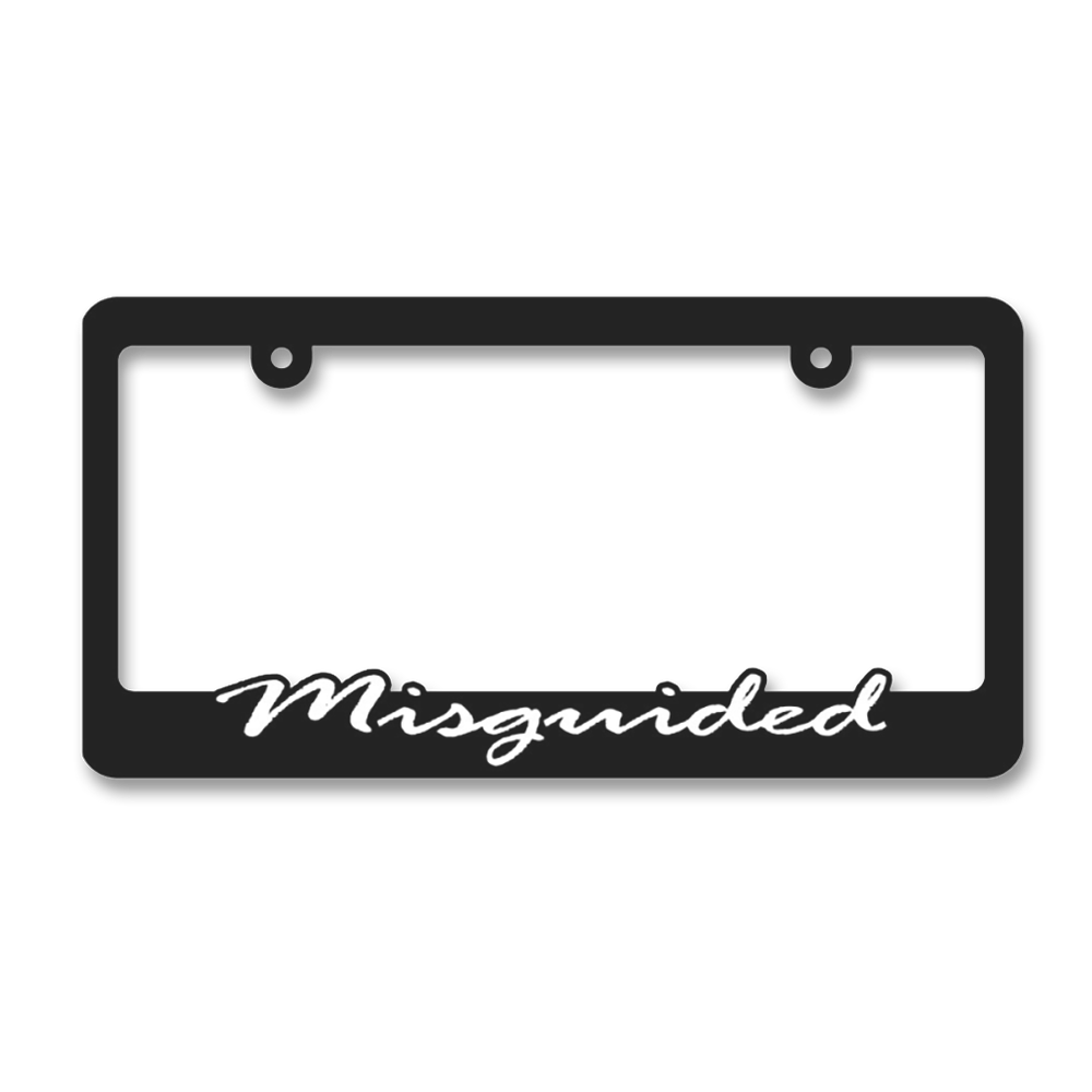 MISGUIDED License Plate Frame