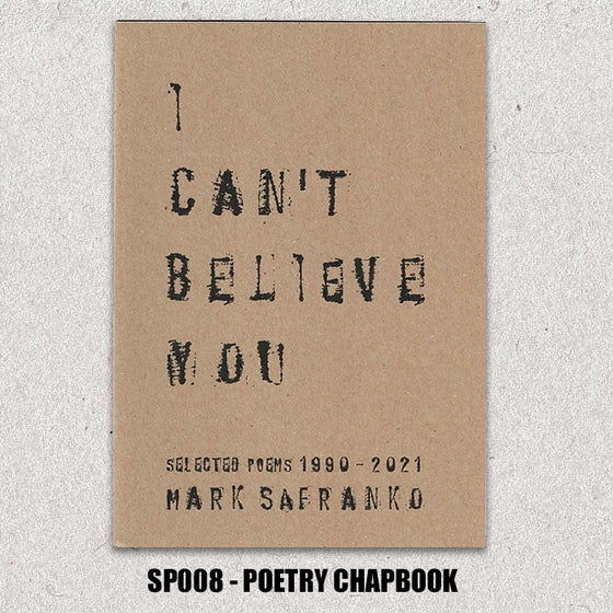 Image of I CAN'T BELIEVE YOU