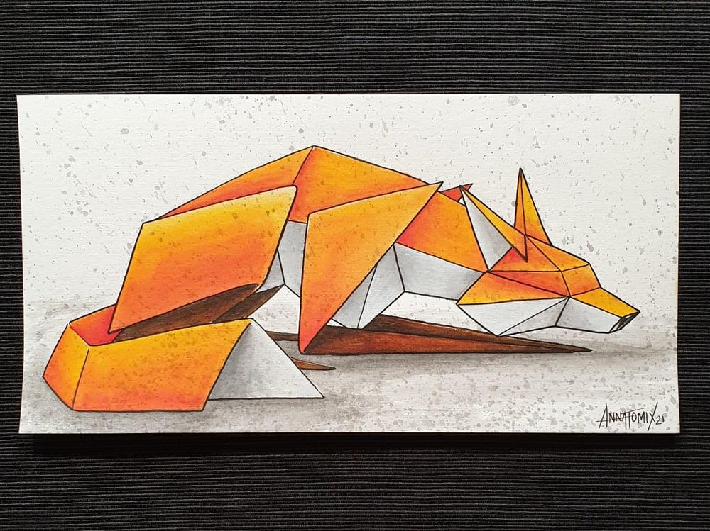 "Image of ""Solitary #5"" original watercolour"