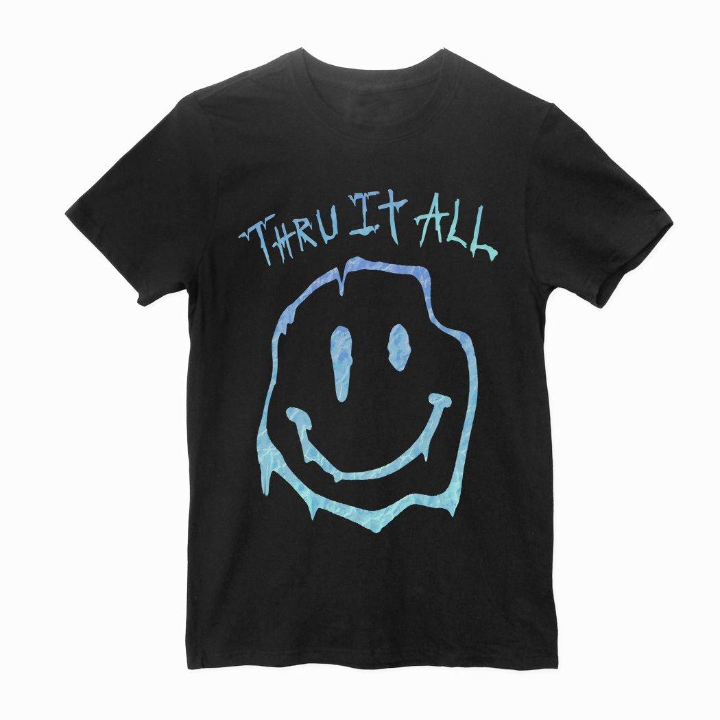 THRU IT ALL - SMILEY TEE