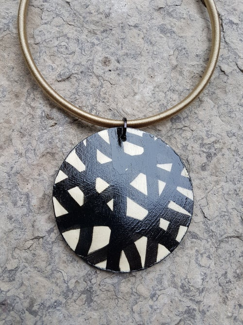 Image of small painted pendant #3