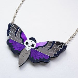 Image of Death's Head Moth Necklace