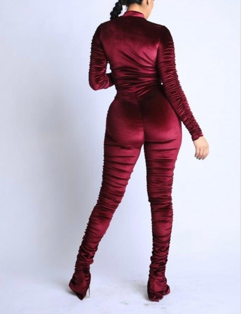 Image of Velvet Chill Set (burgundy)