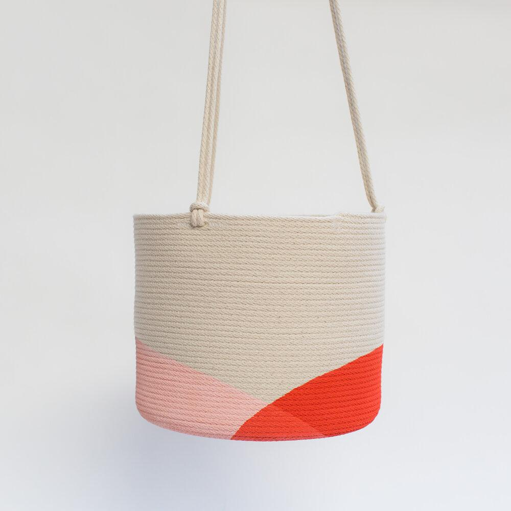 Image of Large Hanging Rope Planter (Multiple Colors)