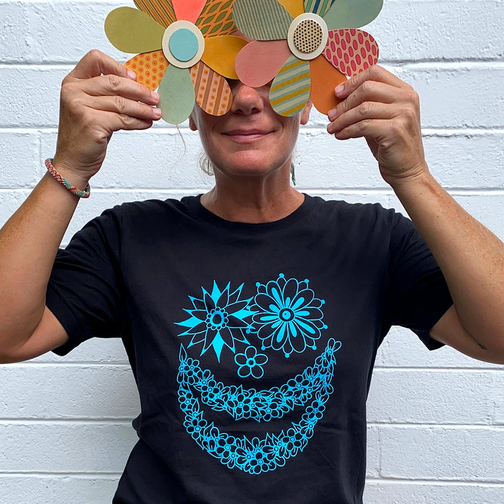 Image of FLOWER FACE 2 - tshirt