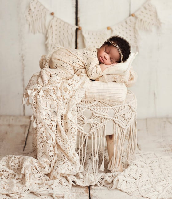 Image of Beautifull crochet blanket