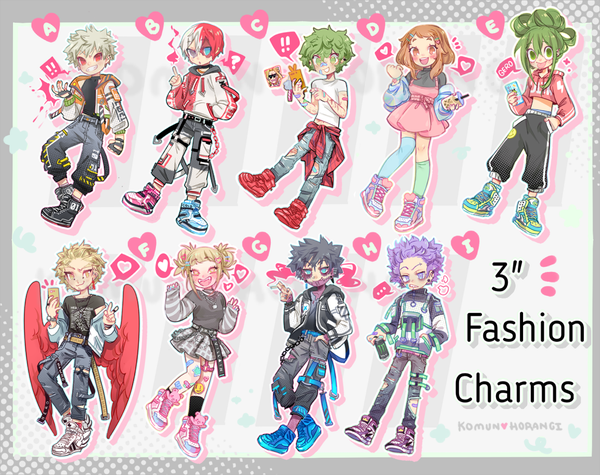 Image of My Hero Fashion Large 3inch Charms