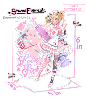 Image of Love Sick Himiko Acrylic Standee PRE-ORDER SHIPS OCT 20