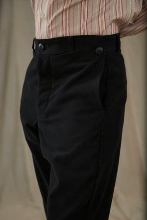 Image of PEAKY BLINDER TROUSER MOLSKIN - BLACK