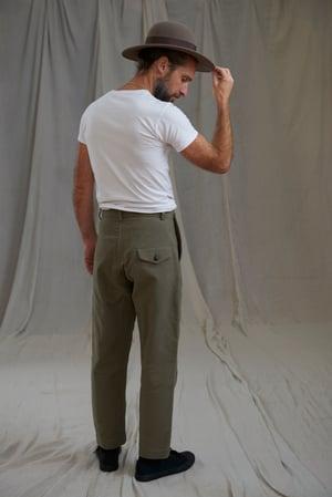 Image of PEAKY BLINDER TROUSER MOLSKIN - DARK LOVAT