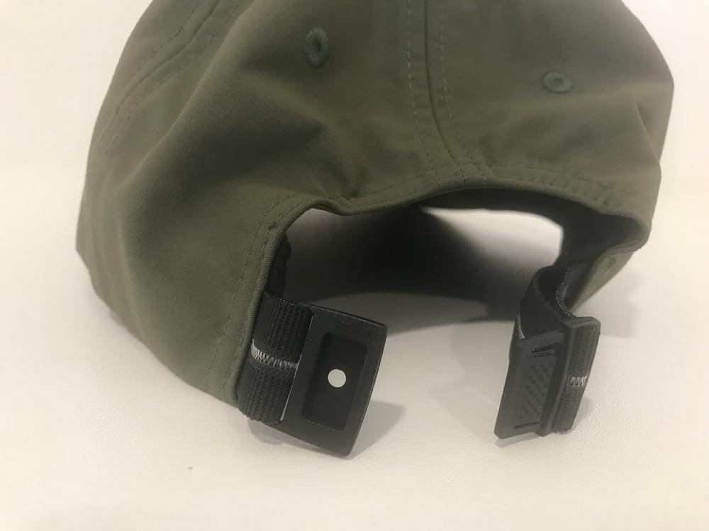 Image of Caspa Nylon Dad Hat [KHAKI GREEN]