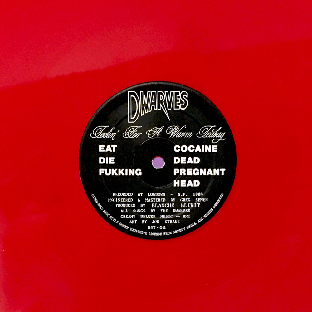 """Image of The Dwarves - Toolin' For A Warm Teabag (Mail Order Exclusive Red 12"""" Color Vinyl)"""