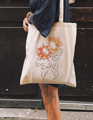 """Tote Bag """"Blooming Up Together"""""""