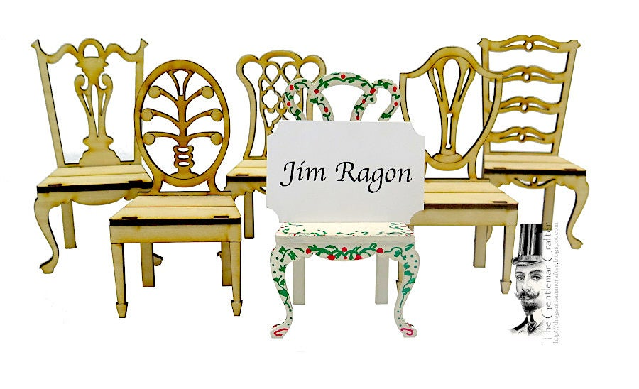 Image of Chair Place Card Holder Set/6 -Kit