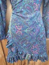 Wrap dress with new fabric Neon flashes