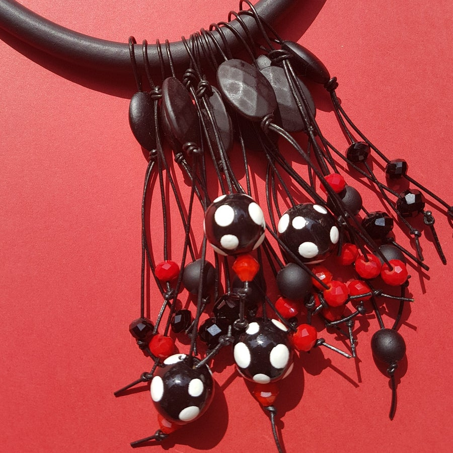 Image of polkadot cluster necklace