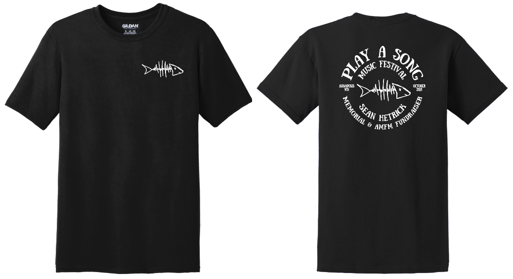Play A Song Music Festival T-Shirt - Black