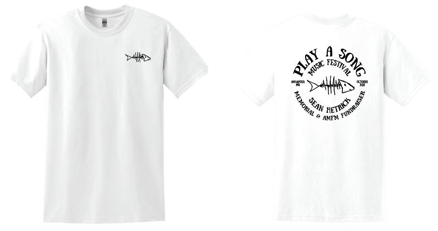 Play A Song Music Festival T-Shirt - White