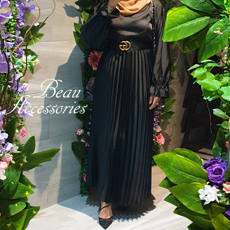 Image of Batwing Satin Dress