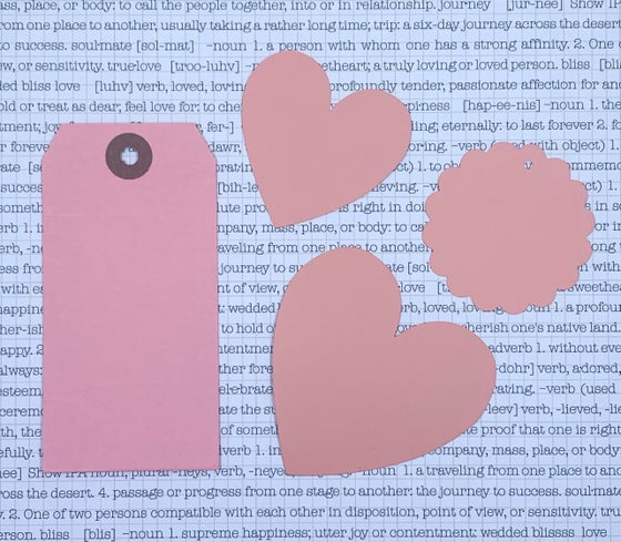 Image of heart blanks - small