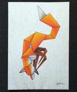"Image of ""Nose dive"" original watercolour"