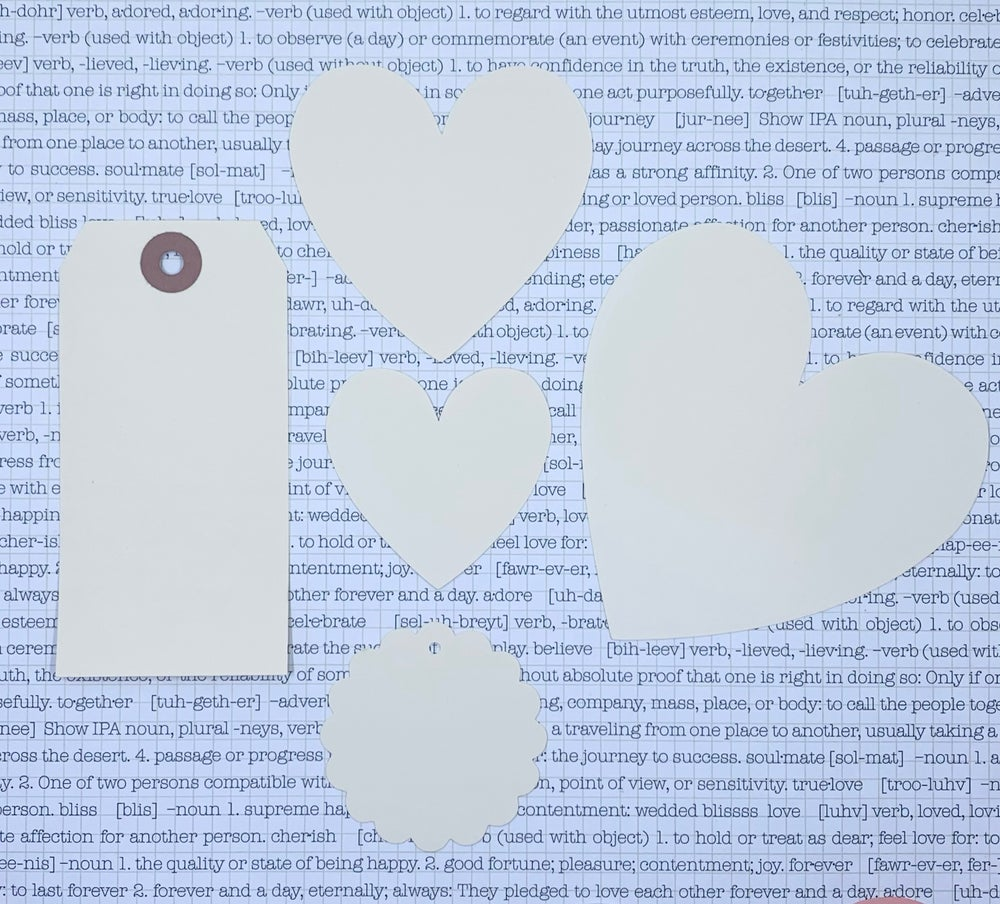Image of heart blanks - large
